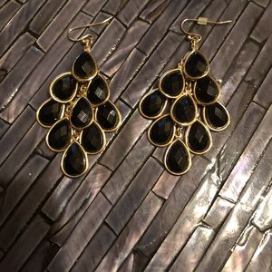 Jewelry - 2 pc set - 1.5 inch drop earrings & sheer choker